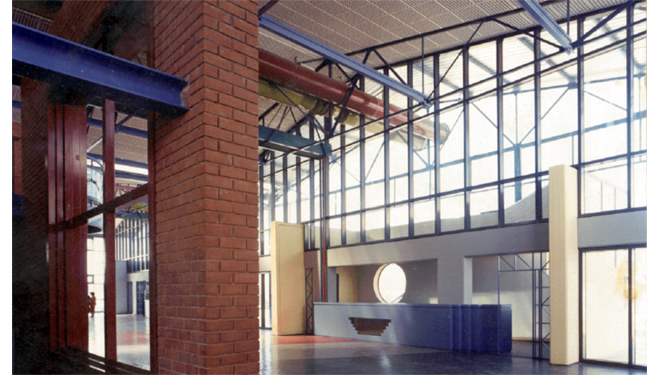 Conversion of a Factory Warehouse to a University of Thessaly Building