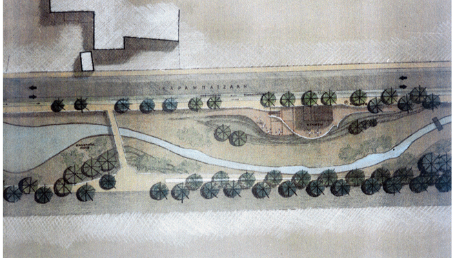 Design for the Krafsidon riverbed