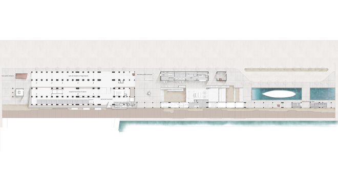 Redesign of the existing cereals' stock house building facilities (SILO) and its surrounding open space into a Museum for Underwater Antiquities and Regeneration of part of the Piraeus Port Authority (OLP) Coastal Zone into an open public space for outdoor activities